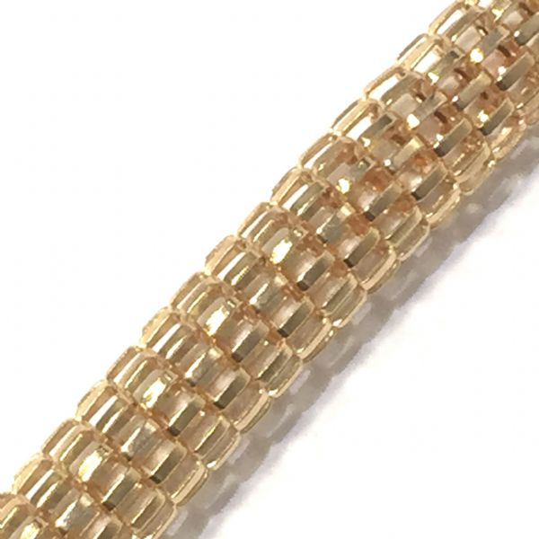 6mm Mesh chain -- rose gold colour -- 1 meter -- 6503005